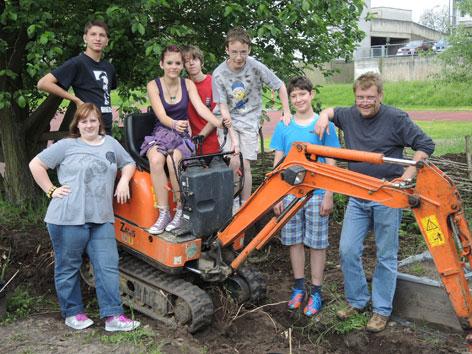 Wegebau - Gartenpaedagogik