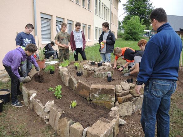 Kräuterschnecke, Gartenpaedagogik